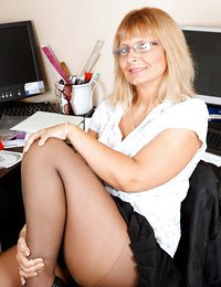 Office milf Alex shows off..